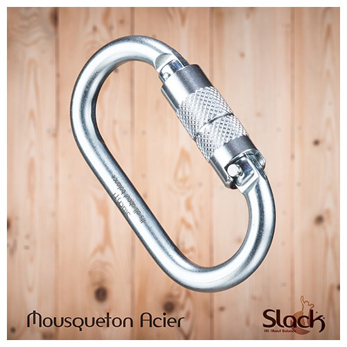 Steel carabiner