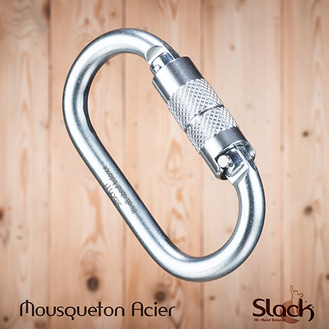 Steel carabiner automatic