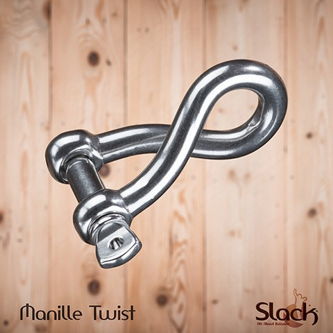 Manille Inox Twistée 8mm