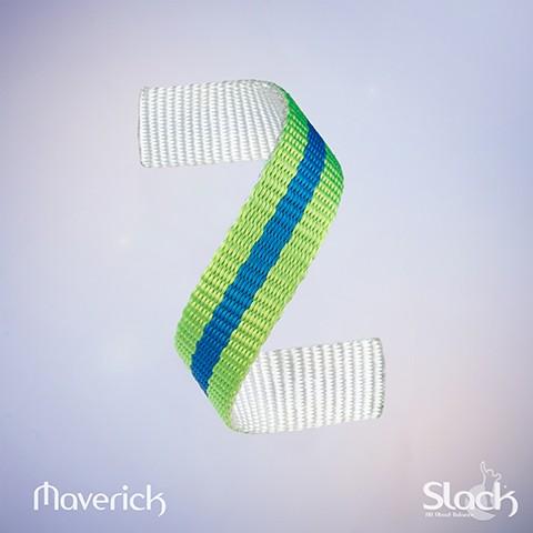 Maverick - Plate blanche, bleue et verte