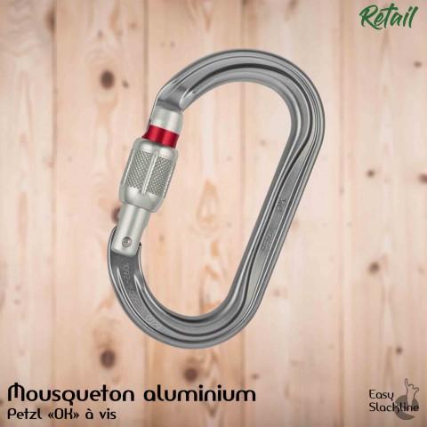 "Mousqueton Aluminium Petzl ""OK"""