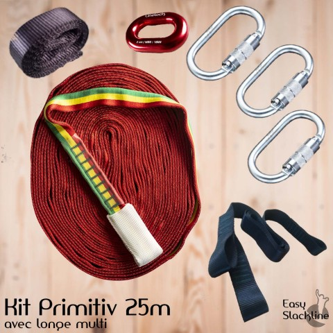 Kit primitiv 25m - easy slackline