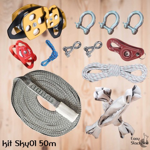 Pulley 50m set SKY 01 - Easy Slackline