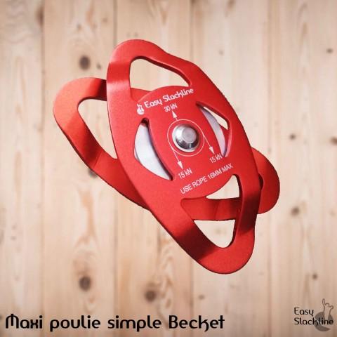 Maxi pulley becket slackline