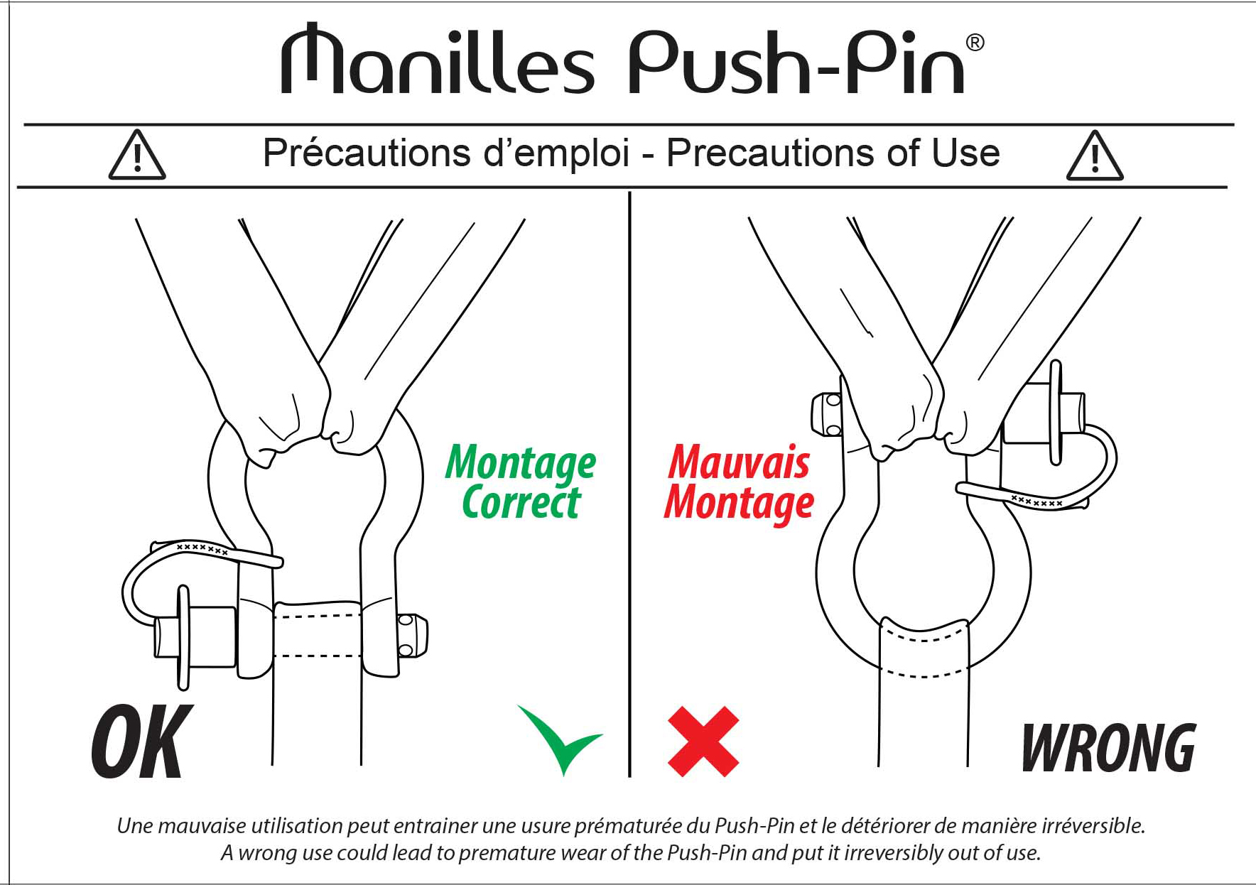 Notice manille pushpin