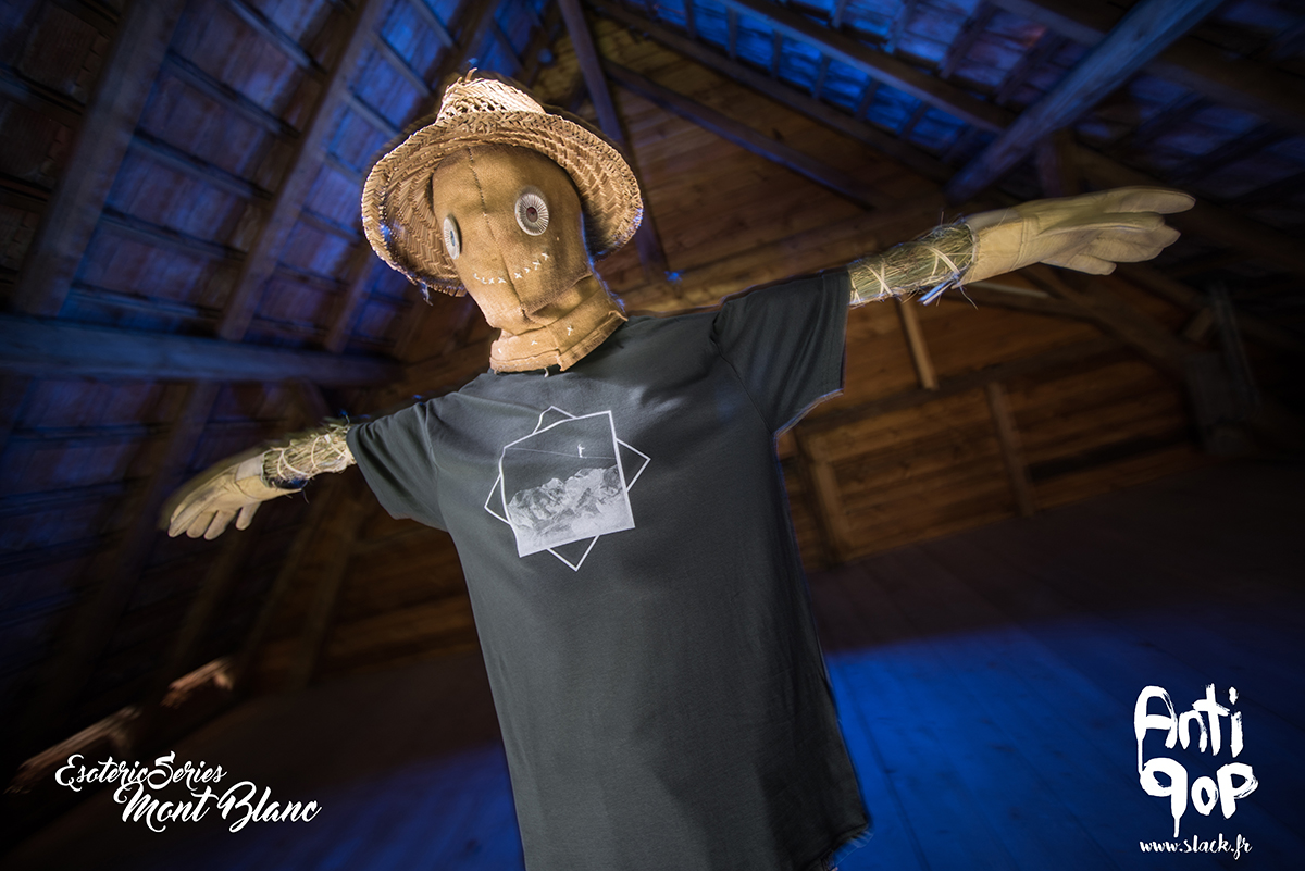 AntiPop Slackline T-shirt Esoteric Mont Blanc