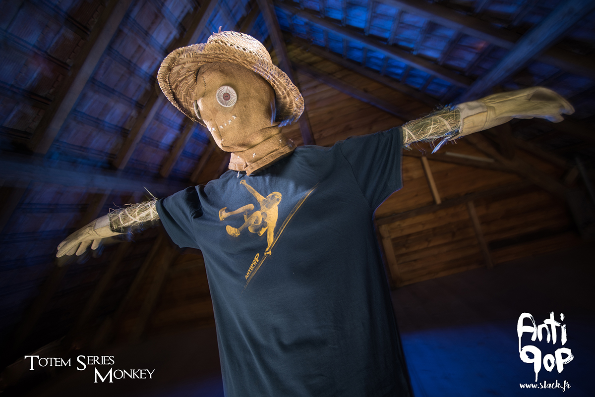 AntiPop Slackline T-shirt Totem Monkey