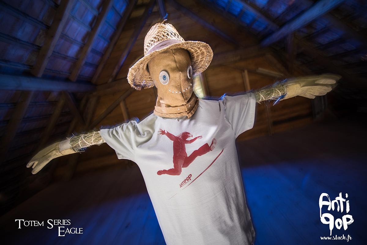 AntiPop Slackline T-shirt Totem Eagle