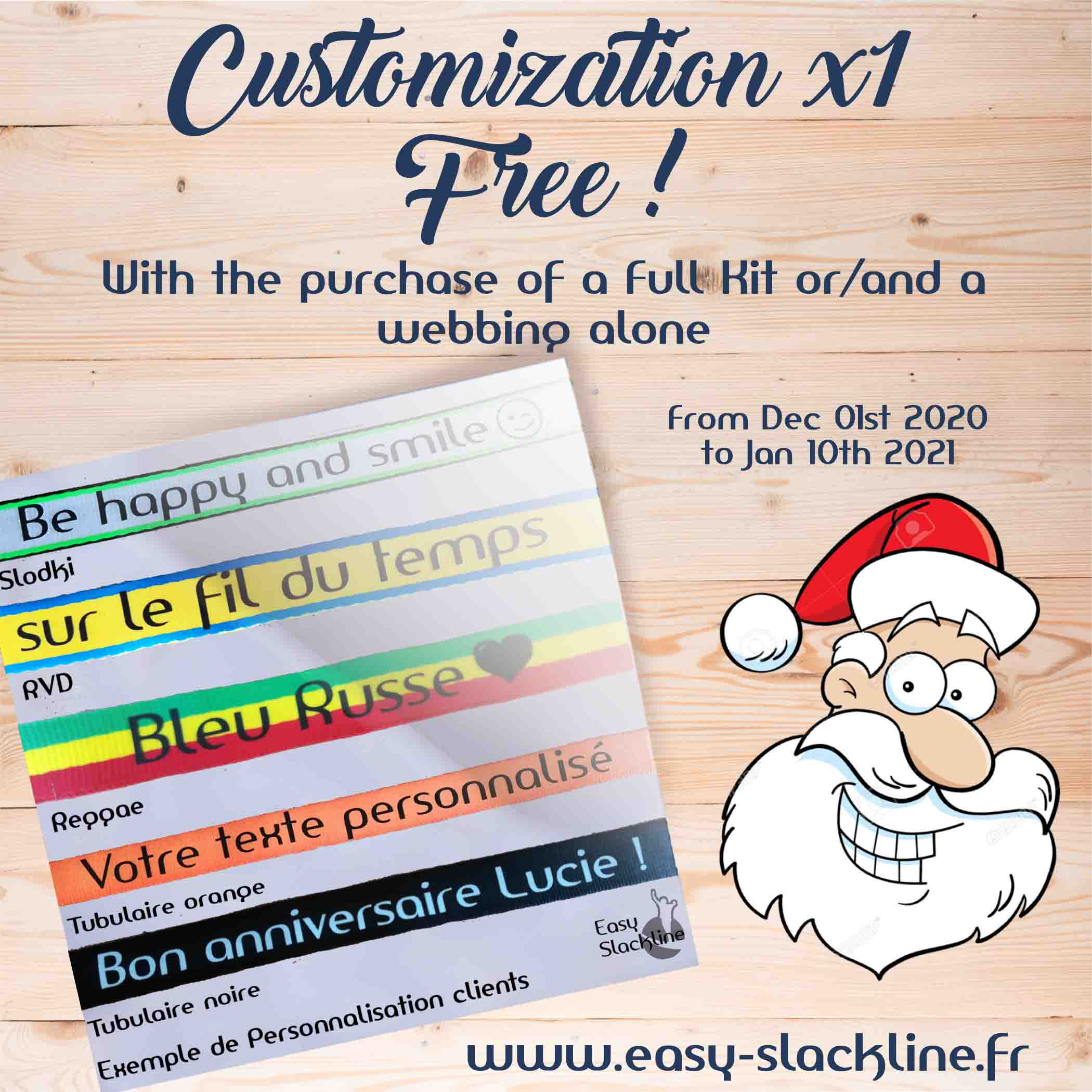 free customization easy slackline