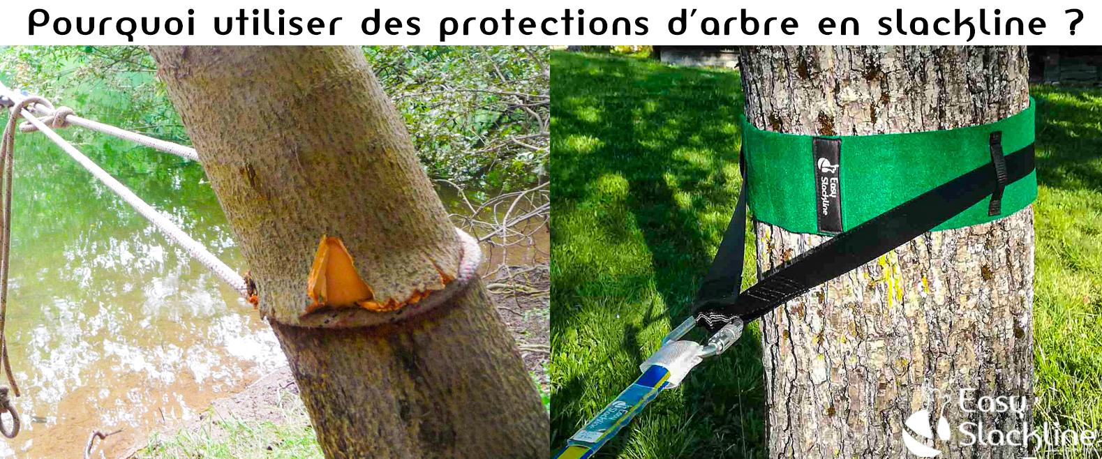 Pourquoi utiliser des protections d'arbre en slackline