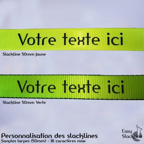 personnalisation sangle slackline - easy slackline
