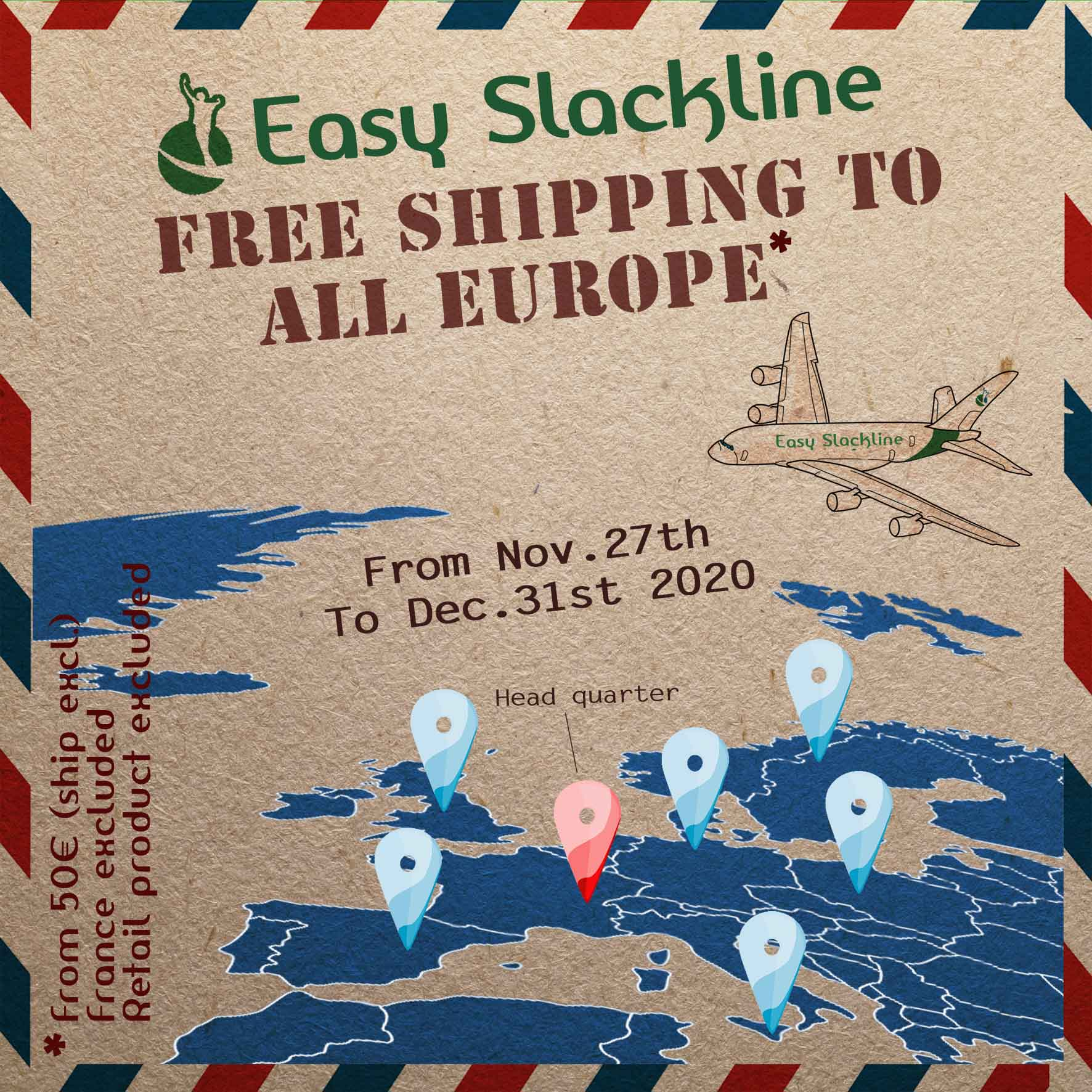black friday easy slackline free shipping europe