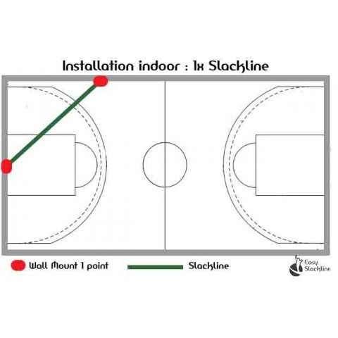indoor slackline x1