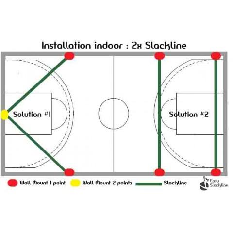 indoor slackline x2