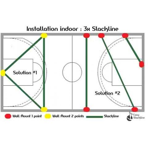 indoor slackline x3